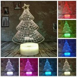 Рождественские подарки подросткам онлайн-Новые 3D Merry Christmas Gifts Star Tree 7 Изменение цвета RGB светодиодные настольные лампы Главная партия Спальня Декоративные Night Light по уходу за детьми Подростки Дети Мальчик подарков