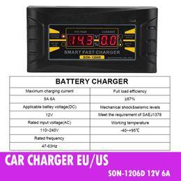 Полностью автоматическое автомобильное зарядное устройство 110 В / 220 В до 12 В 6А Smart Fast Power Зарядка Подходит для автомобиля мотоцикла с вилкой ЕС / США от Поставщики защитный кабель для передачи данных