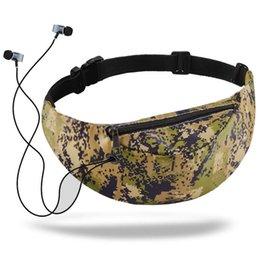 Telefono cellulare sacchetto dell'anca online-donne della stampa 3D Marsupio Colorful impermeabile Denaro viaggio pacchetto di Fanny del telefono mobile del pacchetto della vita Hip Belt Pouch Bag #P sport