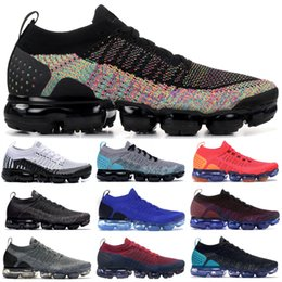 Sapatos cor rosa on-line-Top Popular Orca Rose Gold nike flyknit 2.0 Preto Multi-Cor CNY Branco Pure Platinum Mens Designer Shoes Volt Preto Safari Knite Runners Sapatilhas