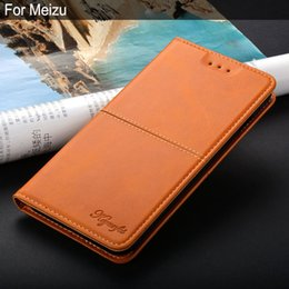 mini custodia m8 Sconti Commercio all'ingrosso per Meizu M2 M3 M5 M6 Note mini M8 Lite M5C MX6 M15 M6S M6T U10 lusso Vintage custodia in pelle Flip cover coque stand funda