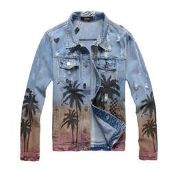 jeans jaqueta de vestido Desconto 2019 Homens Denim Jacket Motorcycle Jeans Jacket Brasão Man Moda slim Windbreaker Streetwear Casais Vestido Coats denim estilo coqueiro