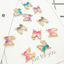 Vrac 200pcs / lot pendentif breloques papillon, 16 * 14MM, charme animal émail Fit pour bricolage artisanat, fabrication de bijoux ? partir de fabricateur