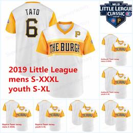 pequeno jogador Desconto Apelido Jersey Jogadores Pittsburgh 2019 Little League Piratas Chris Archer FLACO FUERTE Josh Bell JB Francisco Cervelli CISCO Marte TATO
