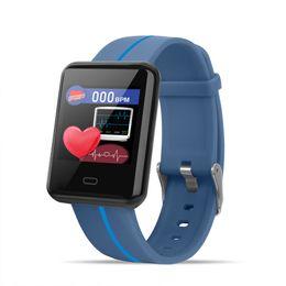 Hot F5 pulseira inteligente 1.3 polegada tela grande duas cores pulseira com passo novo ritmo cardíaco pressão arterial IP67 à prova d 'água longa espera de