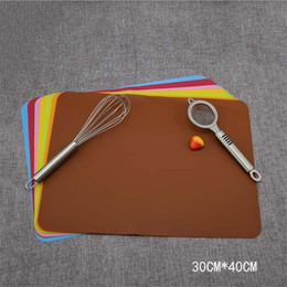 Tapetes para forno on-line-40x30cm grau alimentício silicone Mats Baking Liner Silicone Forno Mat isolamento térmico Pad Bakeware Kid Table Placemat Decoração Mat