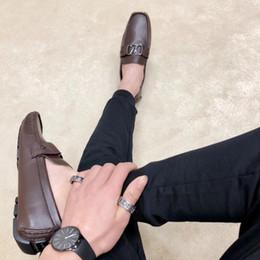 Argentina Top Classic diseñador de los hombres zapatos de conducción superstar 2018 moda Metal snap peas zapatos de trabajo de cuero zapatos para hombres de alta calidad 11 cheap top snaps Suministro