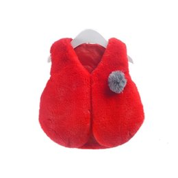 Chalecos de piel para niñas online-Baby Vest Meisje Coats Faux Fur Jacket Girl Cardigan Children Clothing Outerwear Waistcoats Vetement Fille Hiver Girls Vest Kids