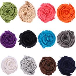 großhandel seide pashminas Rabatt Großhandels40pcs Pashmina Kaschmir-Silk feste Schal-Verpackungs-Unisex-Schal Damen Schal reine 40 Farben-Schal