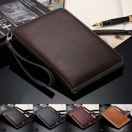 "ipad mini hand cover Promo Codes - Top Grade Retro Business Hand Strap Leather Case for ipad mini1 2 3 2 3 4 ipad2018 air air2 ipad pro 9.7"" Handheld Stand Card Smart Cover"
