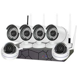 Système de sécurité à domicile en Ligne-6PCS Home Système de vidéosurveillance 6CH 960P HD Kit sans fil NVR P2P Intérieur Extérieur IR Vision de nuit Sécurité 1.3MP Caméra WIFI CCTV Système