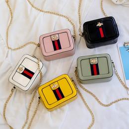 Eleganti bambini piccoli bambine bambino mini inclinazione spalla slung mini borsa quadrata morbido lato PU borsa stile borsa portamonete, 5 colori da