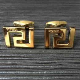 Selos para metal on-line-Venda quente de Luxo homens camisa de casamento abotoaduras de prata / ouro de Cobre carimbo botão manguito com Moda homem de metal manguito link presente