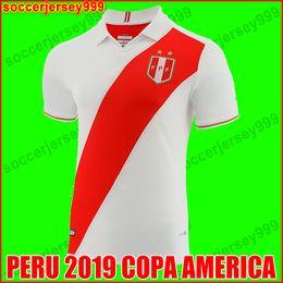 ba4452eca copa football Promo Codes - PERU soccer jersey 2019 copa america peru home  white red football