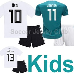 56a0088a2 2019 Germany Kids kits soccer jersey MULLER KROOS OZIL boys National team  child HUMMELS WERNER REUS SANE Thailand quality football shirts