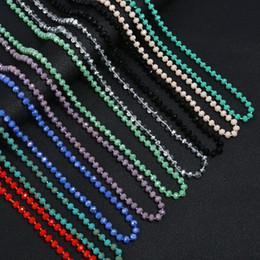 2019 weiße perlenhalskette entwirft gold Neue lange Strickjacke-Ketten-Kragen-Maxi Halskette Simulierte Türkis-Korn-Halsketten-Frauen Fashion Jewelry Bijoux Femme Weihnachtsgeschenke