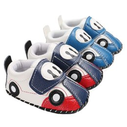 2019 scarpe auto per i ragazzi Baby Boy Autunno New Pu Leather Shoes Cute Car Cartoon Casual fondo morbido Toddler Boy Shoes Nuovo scarpe auto per i ragazzi economici