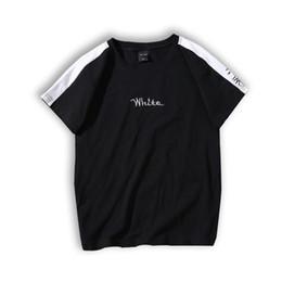 2019 shorts für frauenbilder Buchstabenbild stickerei Tshirt o neck kurzarm harajuku shirt frauen 2019 mode heißes t-shirt playeras mujer gepaart t-shirts günstig shorts für frauenbilder