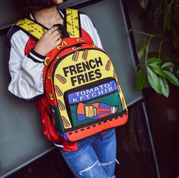 Bolsas de agua caliente envío gratis online-La bolsa de hombro más caliente de la calle de moda bolsa de agua de impresión bolsa de viaje personalidad de la moda bolsa de estudiante multifuncional envío gratis