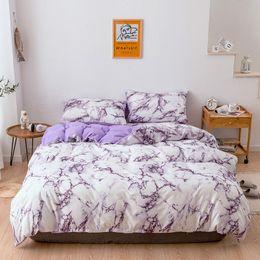 3d bettwäsche gesetzt rosa rosen Rabatt Marmor-Muster Bettwäsche-Sets Bettbezug-Set 2 / 3PCS Single Queen King Size Tröster-Sets Bettbezug (kein Blatt keine Füllung)