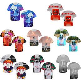 Argentina DJ Marshmello Camiseta Primavera Manga Corta Algodón Dulce Hombres Mujeres Niño Secado rápido Sé Feliz Más Color TC190327 50pcs cheap quick drying t shirts Suministro