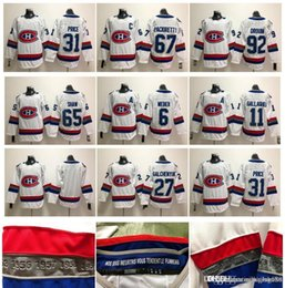Argentina 2018 Clásico de invierno Montreal Canadiens 31 Carey Price 6 Shea Weber 92 Jonathan Drouin Galchenyuk Pacioretty Shaw Gallagher Hockey Jersey cheap winter classic jerseys montreal Suministro