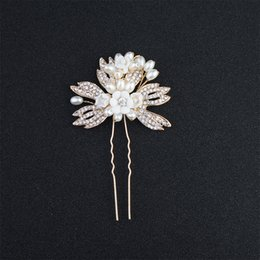 matrimoni perla Sconti Hot Handmade Wedding Hair Pins Matrimoni Hair Jewelry Forcine Perle da sposa Accessori