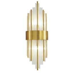 2020 licht modernen minimalistischen kristall Nordic Post-modernen Minimalist TV Hintergrund Wandleuchte Wohnzimmer Kristallwand-Lampen-Ausgang Licht Luxuxschlafzimmer Nachttischlampen WA154 günstig licht modernen minimalistischen kristall