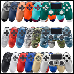 joystick do jogo ps4 Desconto Controlador sem fio Bluetooth para PS4 Vibration Joystick Gamepad Game Controller para Sony Play Station com caixa de varejo