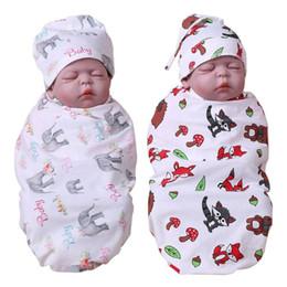 Cartoon Baby Infancy Cotton Sleeping Print Pattern Mat Hat Wrap Swaddle Blanket Bath Towel Envelope For Newborns Mattress With The Best Service Blanket & Swaddling Baby Bedding