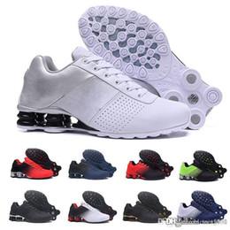 homens, correndo, sapato, shox Desconto nike Tn plus shox 2019 Shox Entregar 809 Homens Air Running Shoes Transporte Da Gota Atacado Famoso DELIVER OZ NZ Mens Tênis Esportivos Tênis Esportivos