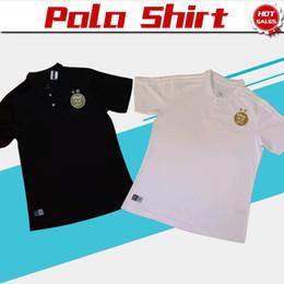 Camisetas de polo de los hombres online-Dos estrellas POLO 2020 Argelia negro Camisetas de fútbol 19/20 Hombres Argelia Fútbol Traje de POLO blanco Uniformes de fútbol Camisetas deportivas a la venta