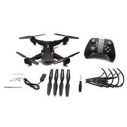 Игрушечные видеоролики онлайн-Wide Angle Remote Control Children Drone Helicopter Toys WIFI HD Camera Video Foldable RC Quadcopter