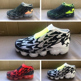sports shoes 6286b 557f3 OFF WHITE x Nike Vapormax 2.0 2018 Plyknit Kinder Laufschuhe Infant Sneaker  Kinder Sportschuhe Outdoor Mädchen und Jungen Hochwertige Tennisschuhe  Trainer