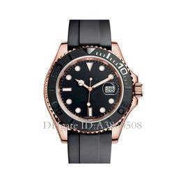 relojes deportivos Rebajas AAA Top Luxury Brand Reloj para hombre Correa de caucho mecánico Relojes automáticos Reloj deportivo YM Relojes de cuerda automática Cristal de zafiro