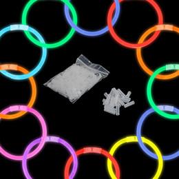 100 шт. Многофункциональный ну вечеринку флуоресцентный свет светящиеся палочки браслеты ожерелья неон свадьба наклейки от