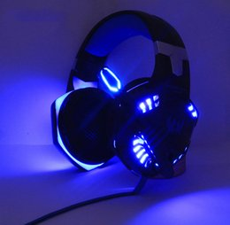 Cablaggio del microfono del pc online-KOTION EACH Gaming Headphones Headset Deep Bass Stereo gamer cablato Auricolare Microfono con retroilluminazione per PS4 phone PC Laptop