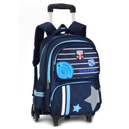 wheeled trolley backpacks Promo Codes - 2018 waterproof Trolley school backpacks Girls children School Bags Wheels Travel bag Luggage backpacks kids Rolling schoolbags