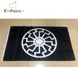Bandeira do sol negro on-line-Bandeira do Sol Negro 3 * 5ft (90 cm * 150 cm) bandeira de Poliéster Bandeira decoração voando jardim de casa bandeira Presentes festivos