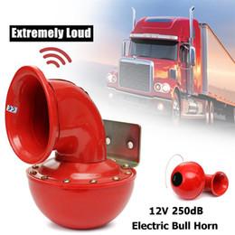 Electric Rouge Haut 12 V 200dB BULL MOTO AIR HORN voiture bateau haut-parleur trompette