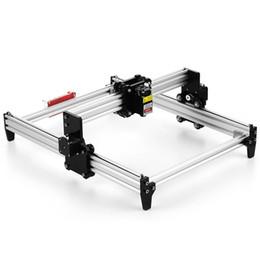 Cnc de escritorio online-Máquina de grabado láser de bricolaje de escritorio Grabadora CNC Carver Impresora láser con gafas protectoras para tallado, corte y grabado