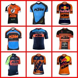 usura ciclica Sconti Maglia ciclismo manica corta KTM Team 100% poliestere Abbigliamento ciclo quick-dry Abbigliamento bici da montagna 2019 N040808