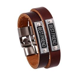 Bester Freund Armband Bester Freund Tag Armband Leder Armbänder Armband Manschette Frau Mann Modeschmuck Will und Sandy Drop Ship von Fabrikanten