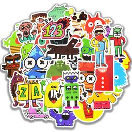 2019 aufkleber kühlschränke 50 stücke wasserdichte doodle aufkleber lustige kleine monster roboter aufkleber aufkleber geschenk spielzeug für kinder diy laptop kühlschrank koffer skateboard auto rabatt aufkleber kühlschränke