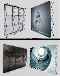 стенды баннеров Скидка 305 * 305 см Алюминиевая рамка для стен с цветами для выставок Стенд с прямыми напряжениями