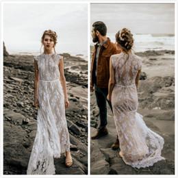 Illusion Lace Arabisch 2019 Brautkleider Crew Mantel Sexy Brautkleider Günstige Elegante Brautkleider von Fabrikanten