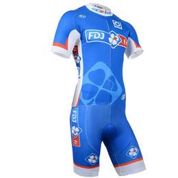 Traje de ciclismo para hombre online-FDJ 2019 Pro Triatlón Traje Hombre Ciclismo Jersey Skinsuit Mono Maillot Ciclismo Conjuntos Ropa Ciclismo Bicicleta Ropa