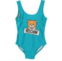 Trajes de banho grátis on-line-Menina Swim Crianças roupas One-Pieces bebê meninas macacões swimwear impressão carta maiô crianças roupas de praia Frete grátis