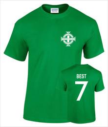 Camisetas george online-Camiseta de fútbol retro para hombre George Best Northern Ireland No 7 para hombre