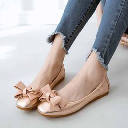 28970737b 2019 sapatas de salto da bailarina Mulheres Flats Verão Mulheres Sapatos de Couro  Genuíno Com Salto